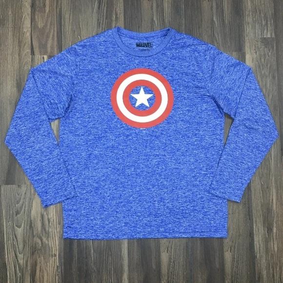 MARVEL Captain America Men's Long Sleeved T-Shirt